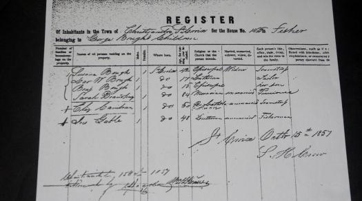 US Virgin Islands Census 1857 (Danish period)