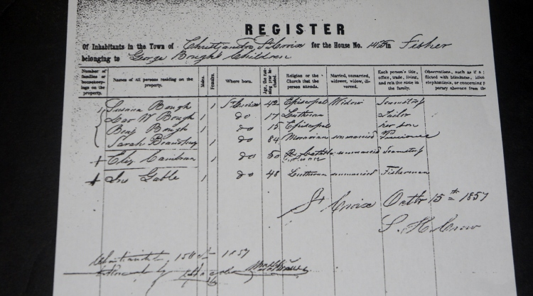 US Virgin Islands Census 1857 (Danish period)
