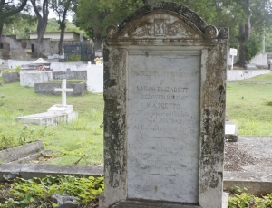 Sarah Elizabeth Pretto Beloved Wife of M.A. Pretto, who departed this life September 6, 1883 at an early age of 20 years. Like a flower withered in its bloom.  She has passed beyond the tomb, with a certain hope of grace to behold  her savior face to face.