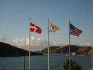 Danish, Virgin Islands and USA Flags.  photo taken in St. Thomas by sdewese