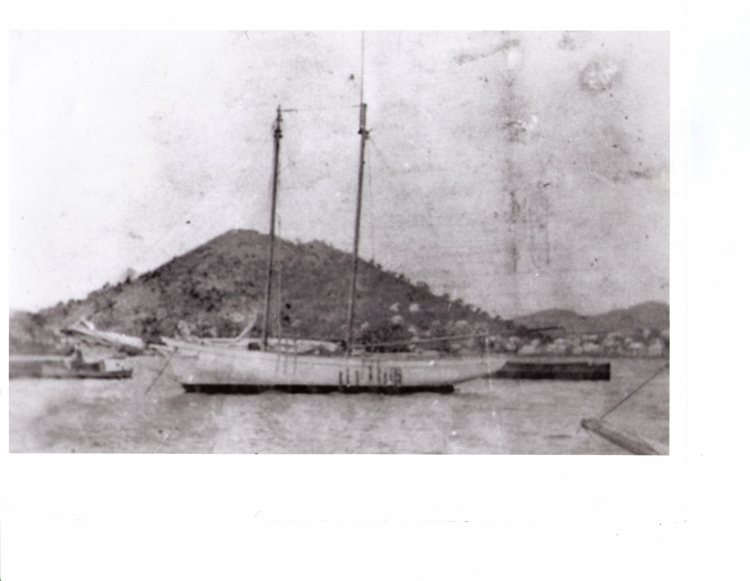 The Fancy-Me at Anchor in St. Thomas Harbour